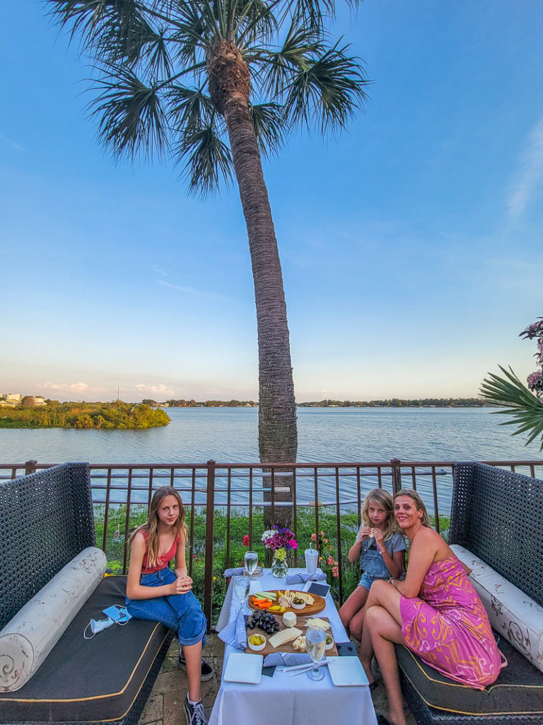 Sunset cocktails at Chachines Restaurant and Bar in Sebring, Florida