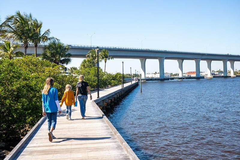 Lovely boardwalk in Stuart Florida