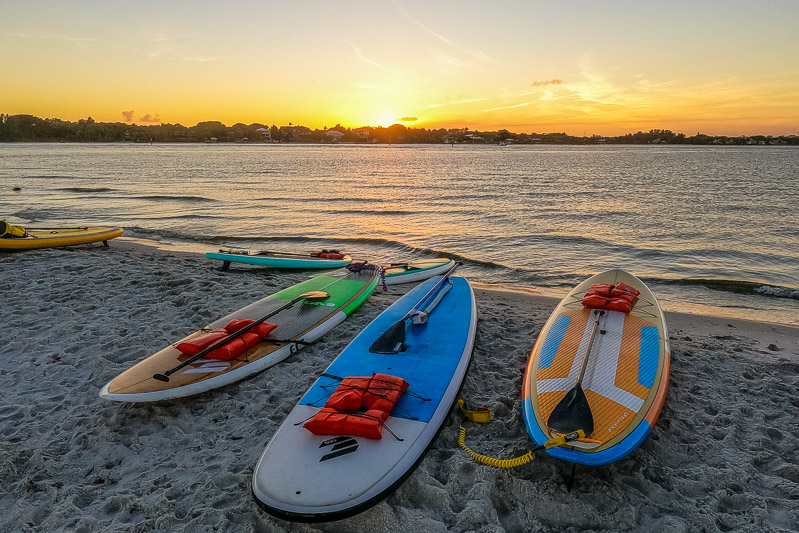 Sunset paddle board was one of our favorite things to do in Martin County, Florida