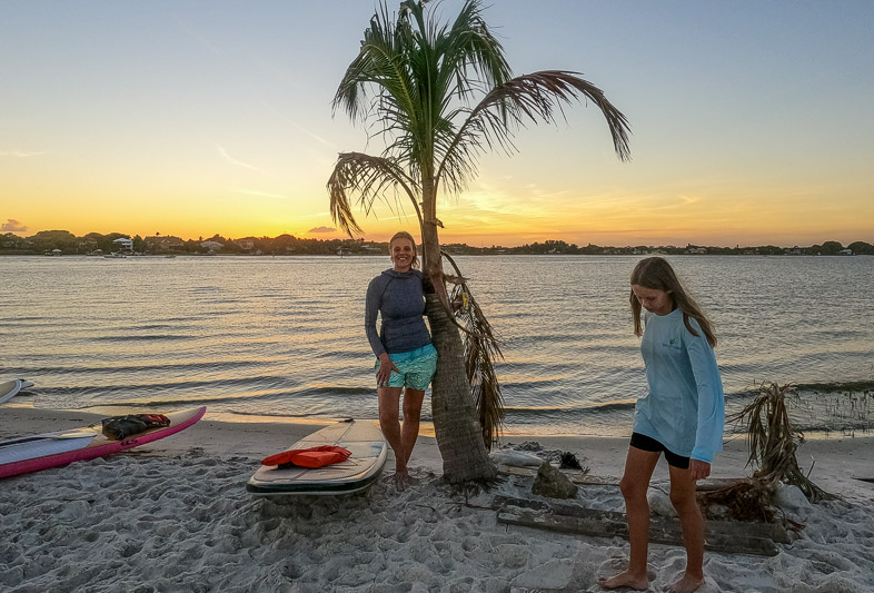Sunset paddle board in Martin County, Florida