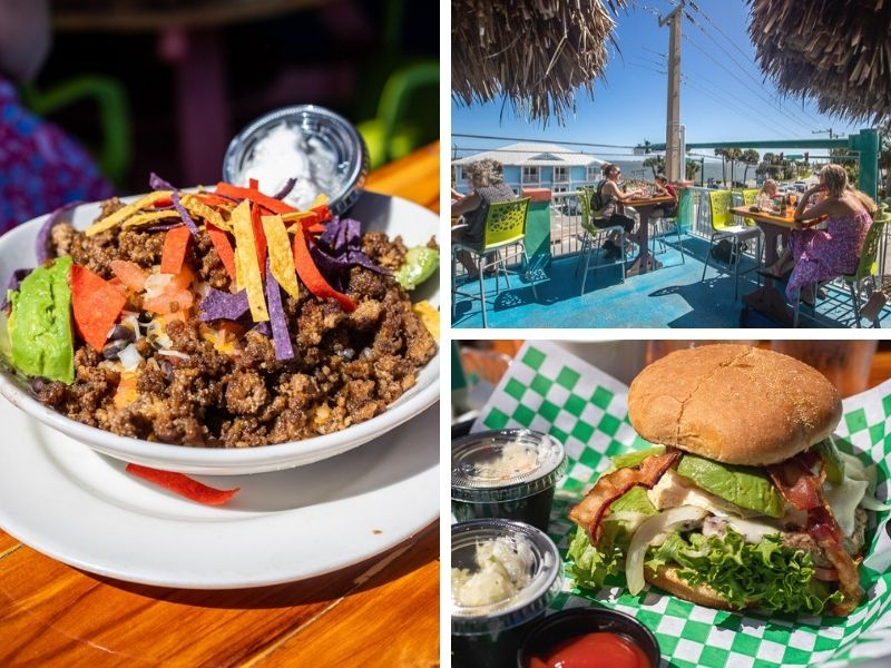 Good vibes and tasty food at Mulligan's Beach House Bar & Grill in Jenson, Florida