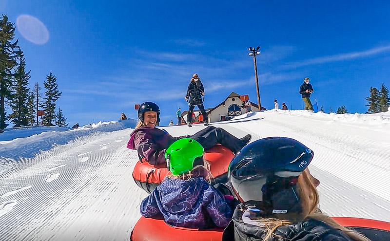 snow tubing silver mountain idaho