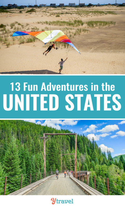 Looking for USA travel ideas? Check out this list of 13 fun activities and adventures you can have in the United States. These are unique activities all the family can enjoy. Put these on your USA bucket list.