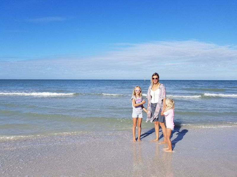 Clearwater beach with kids