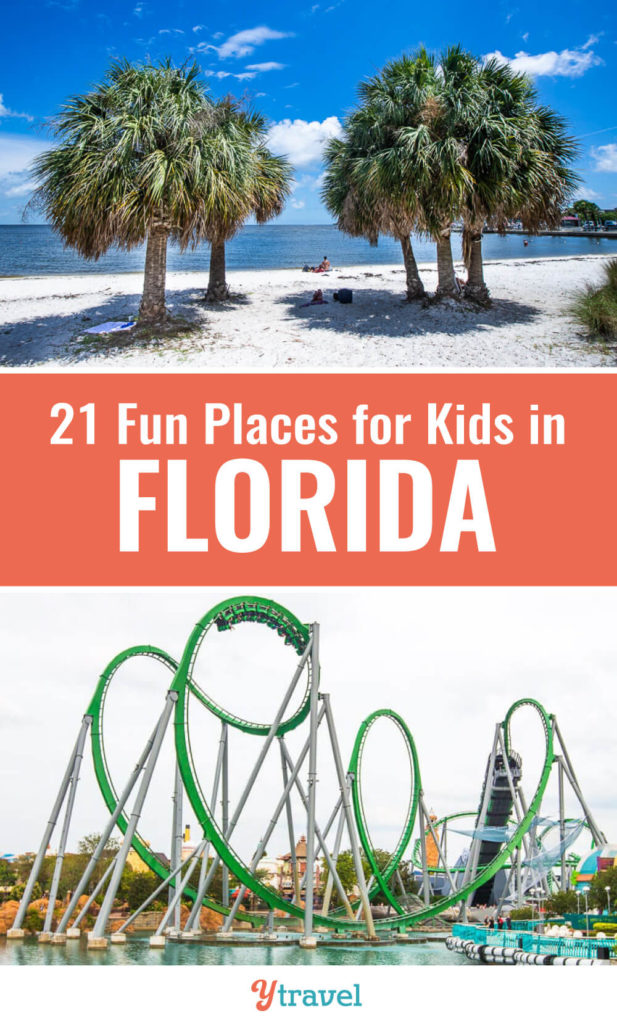 Planning to visit Florida? Don't miss this list of 22 places to visit in Florida with kids. The Sunshine State is perfect for a family vacation with all the beautiful Florida beaches, Florida theme parks, and State Parks. Don't take a Florida vacation before reading these Florida travel tips.