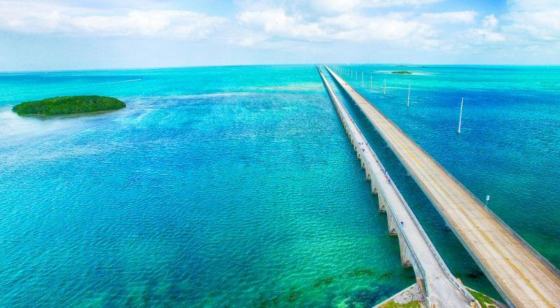 Seven mile bridge of the Overseas Highway