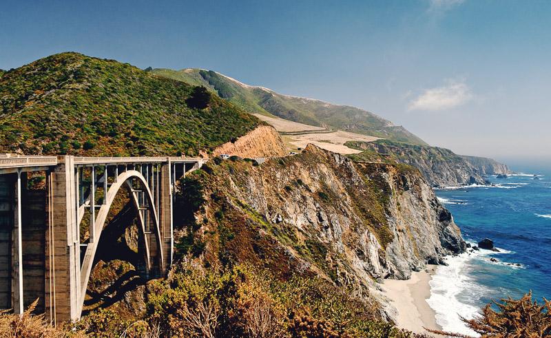 The Bixby Bridge, Big Sur, California