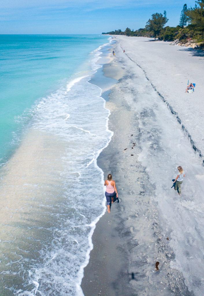 Beach walk in Manasota Key, Florida