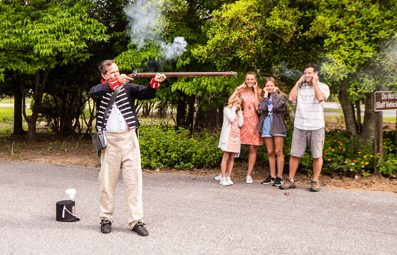 rifle shooting demonstration at Lake Blackshear Resort