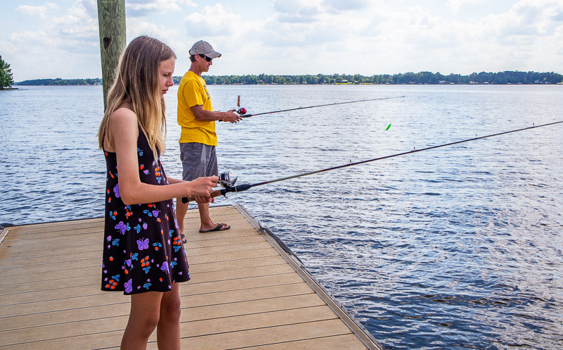 Fishing at Lake Blackshear Resort and Golf Club