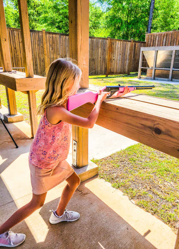 Air rifle range at Lake Blackshear Resort