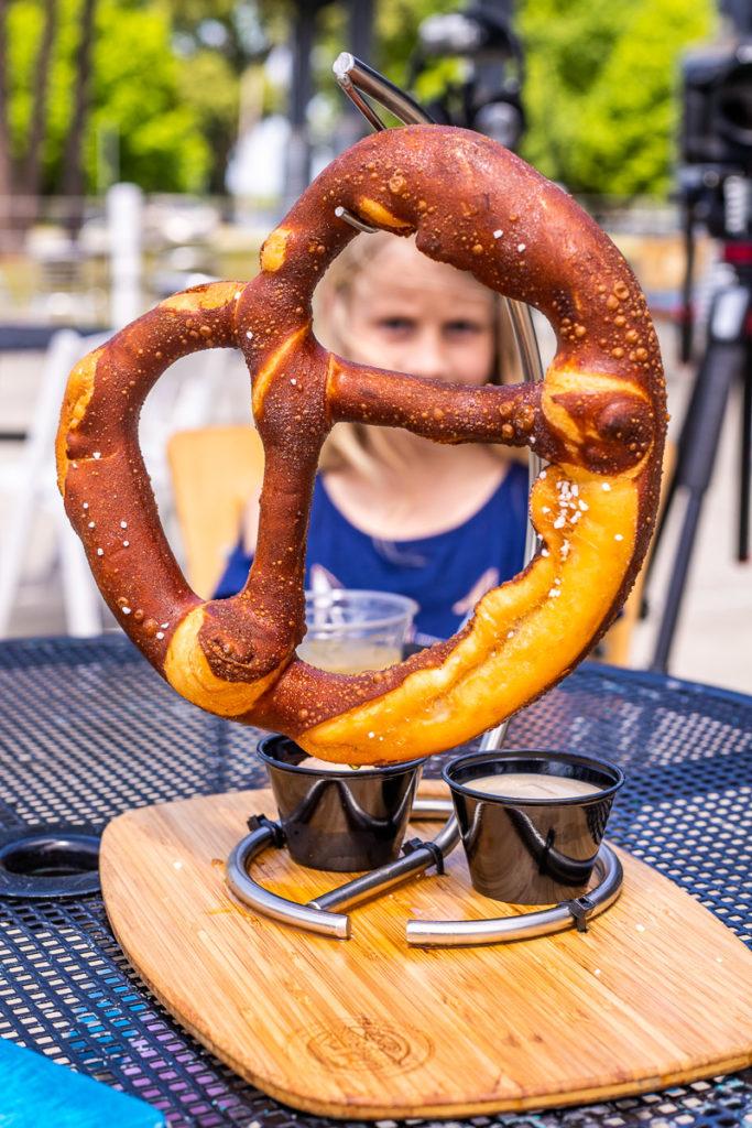 Giant pretzel at Lake Blackshear Resort and Golf Club, Georgia