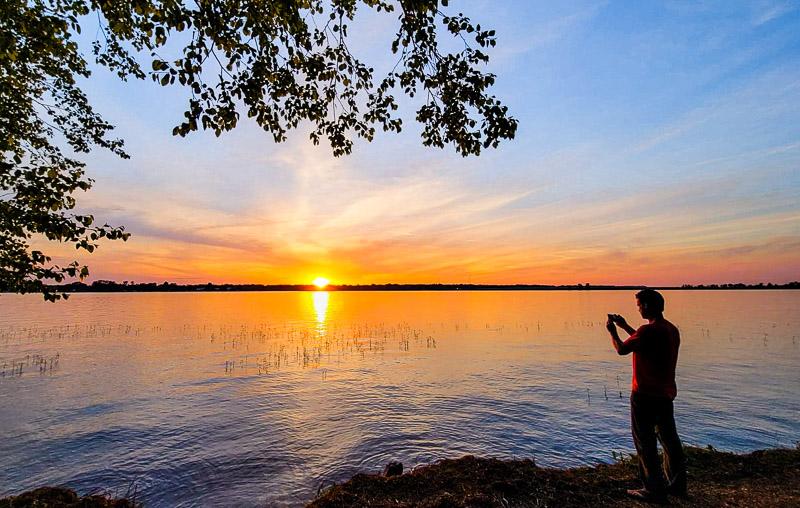 Sunset at Sam Lake Blackshear Resort