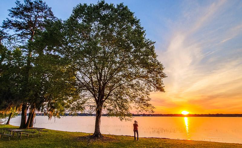 Sunset at Lake Blackshear Resort and Golf Club, Georgia