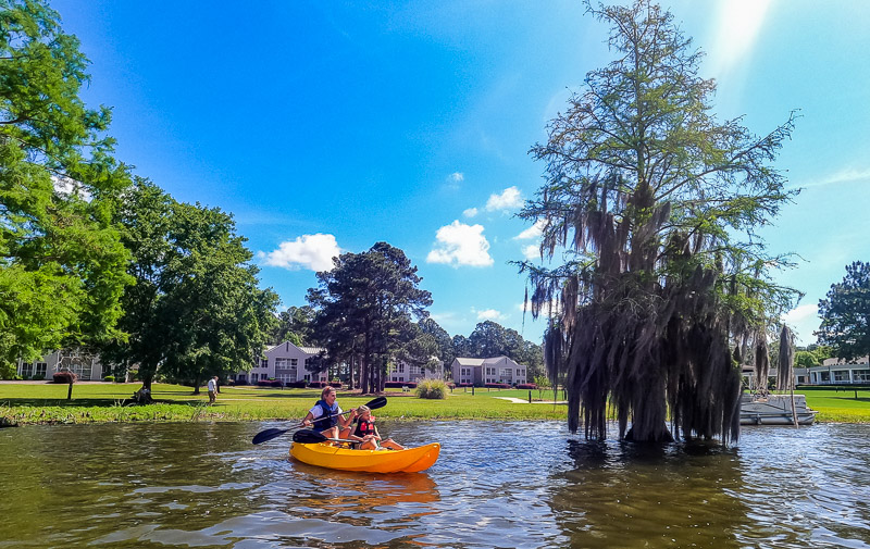 Kayaking at Lake Blackshear Resort and Golf Club