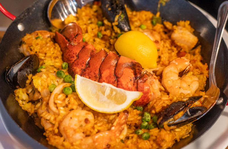 Paella at Lighthouse Grill at Stumps Pass