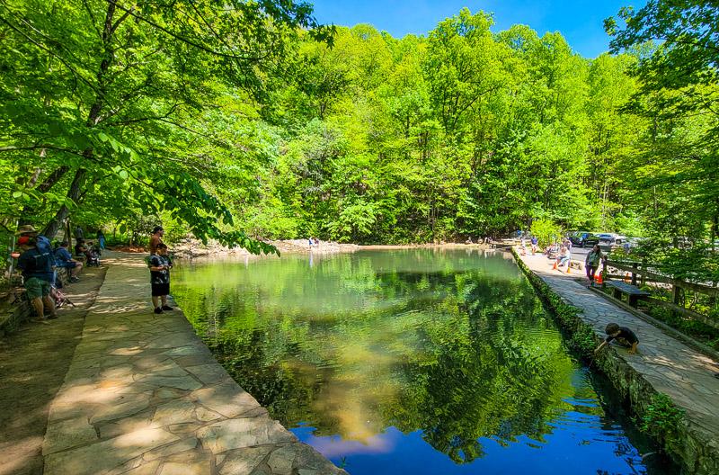 Reflection pool, Amicalola Falls