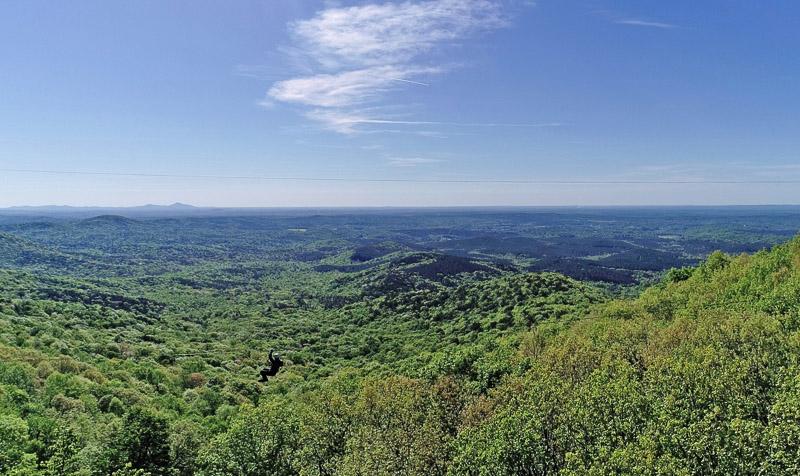 View from zipline