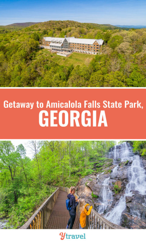 Looking for a great getaway in North Georgia? Consider Amicalola Falls State Park, it's just over an hour from Atlanta. Check out this guide on what to do there including the stunning falls, hikes, ziplining and much more. Put this on your Georgia travel wish list.