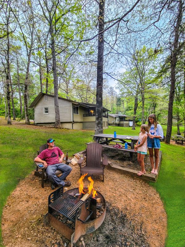 Relaxing at Amicalola Falls State Park