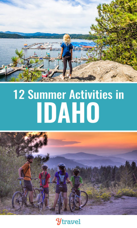 Looking for fun outdoor activities in Idaho? When you visit Idaho in the summer, don't miss these 12 fun family activities and adventures. Put these on your Idaho travel bucket list. #