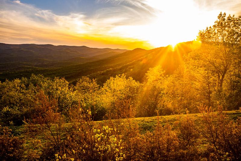 Sunset at Amicalola Falls State Park