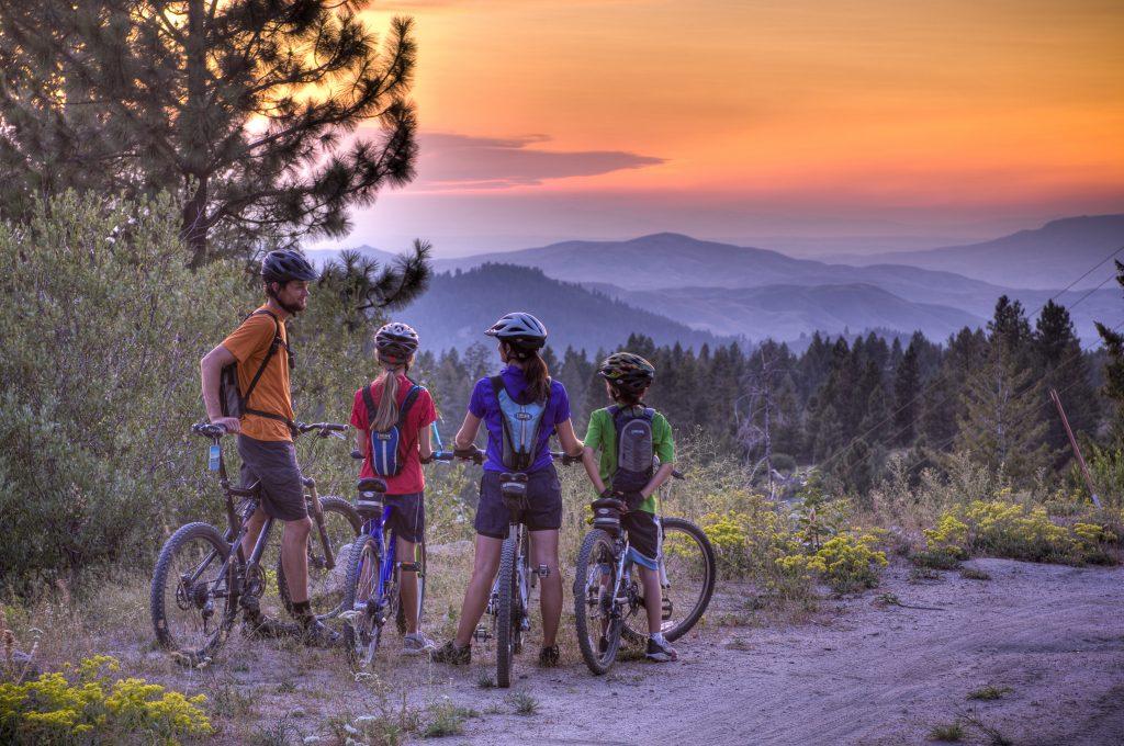 Mountain biking Bogus Basin, Boise