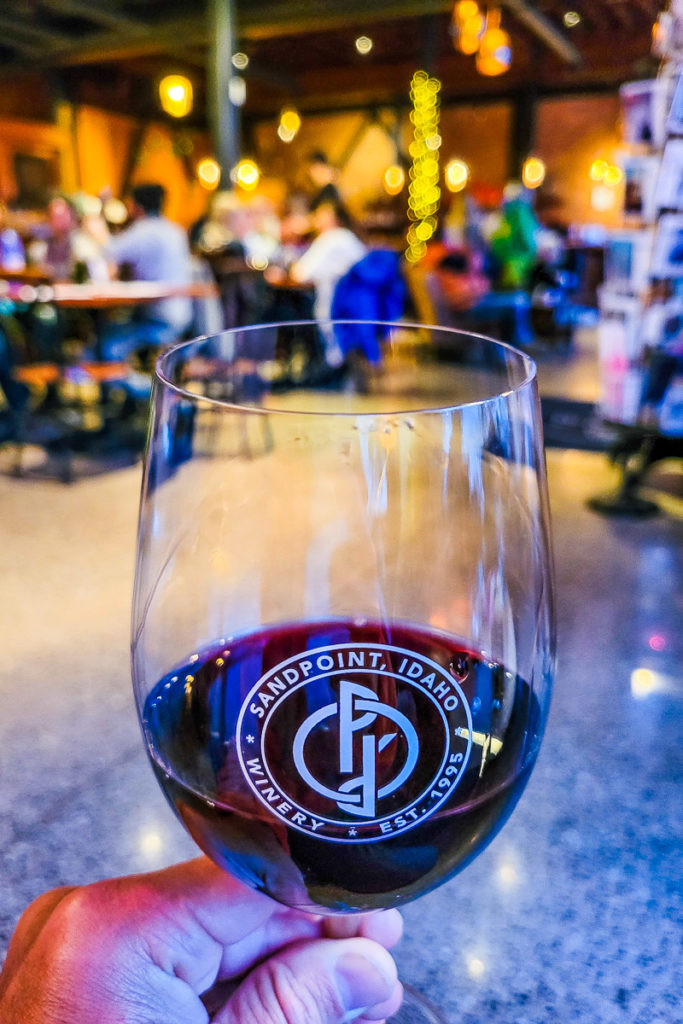 Wine bar in Sandpoint, Idaho