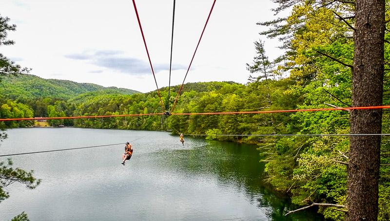 Ziplining at Unicoi State Park, GA