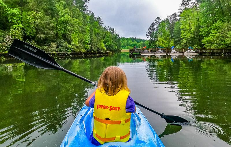 Kayaking at Unicoi State Park, Georgia