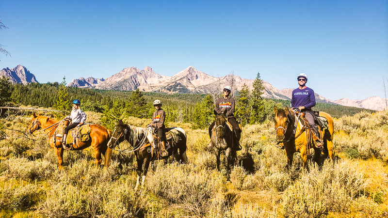 We loved horse riding in the Sawtooth Mountains, Idaho