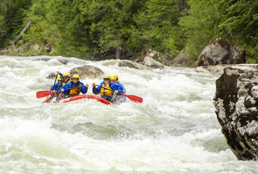 Idaho is famous for White Water Rafting