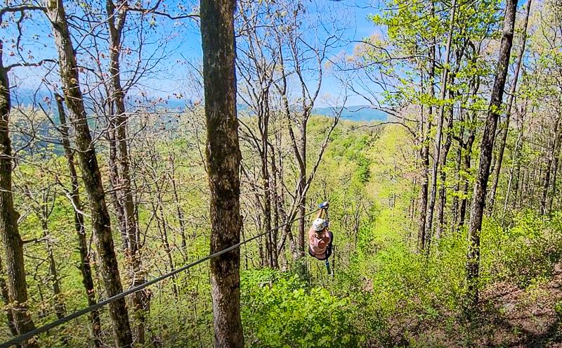 Ziplining at Amicalola Falls State Park