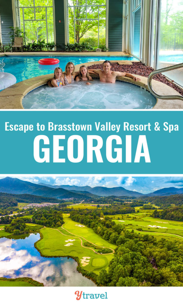 Looking for getaways in the Georgia mountains? Brasstown Valley Resort & Spa in the North Georgia Mountains is close to Atlanta and offers relaxation + adventure for all the family. If you love golf, spa treatments, hiking, boating, tennis, pools, you'll love this resort. Check out this guide.