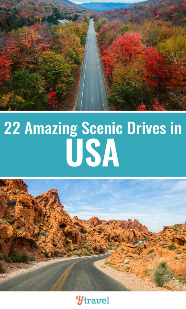 If you love road trips, here is a list of 22 amazing scenic drives in the USA. One of our top USA travel tips is that one of the best ways to explore America is by doing USA road trips. Put these on your USA bucket list.