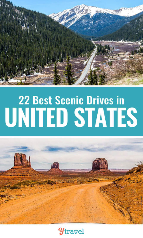 Love road trips? Check out this list of 22 amazing scenic drives in the USA. One of our top USA travel tips is that one of the best ways to explore America is by doing USA road trips. Put these on your USA bucket list.