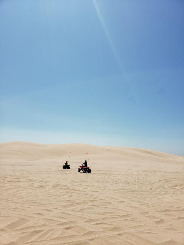 quad biking the OREgon Sand dunes Florence