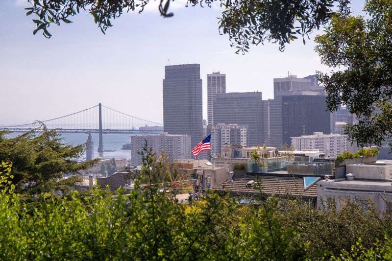Views from Coit Tower, San Francisco