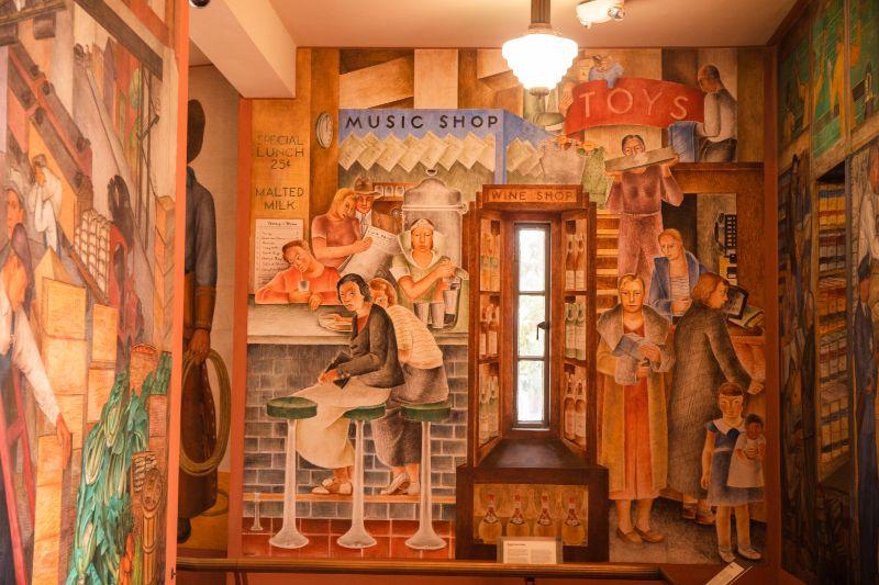 murals of coit tower