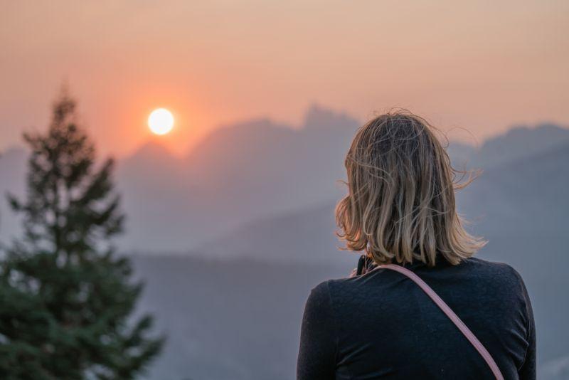 Minaret Vista sunset Mammoth Mountain
